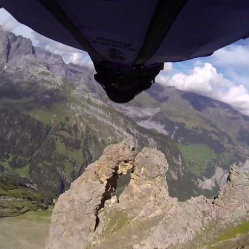 Awesome Wingsuit Flight Through 2m Cave!