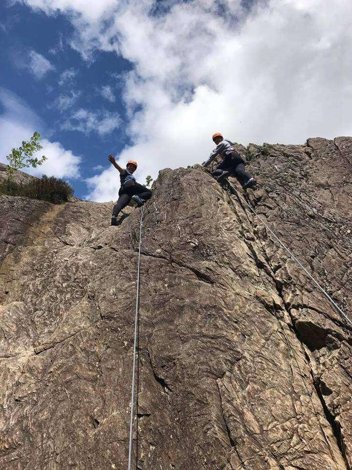 Outdoor Rock Climbing in the Highlands