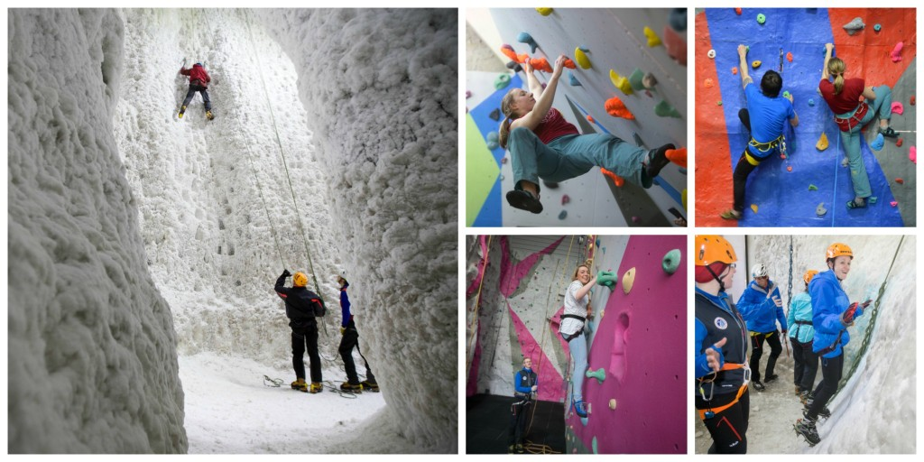 Ice Factor Climbing Collage