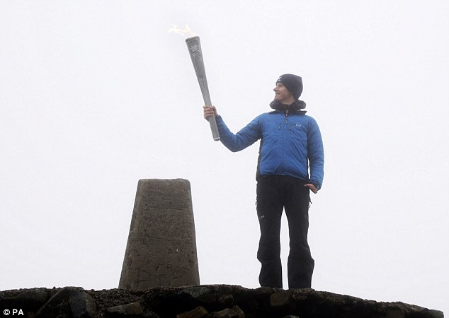 Kev lit the Paralympic Torch on Ben Nevis for the 2012 Games