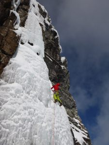 Photo fro Kev's Blog - Kev on an Ice Climb on Mega Route X -Pic.